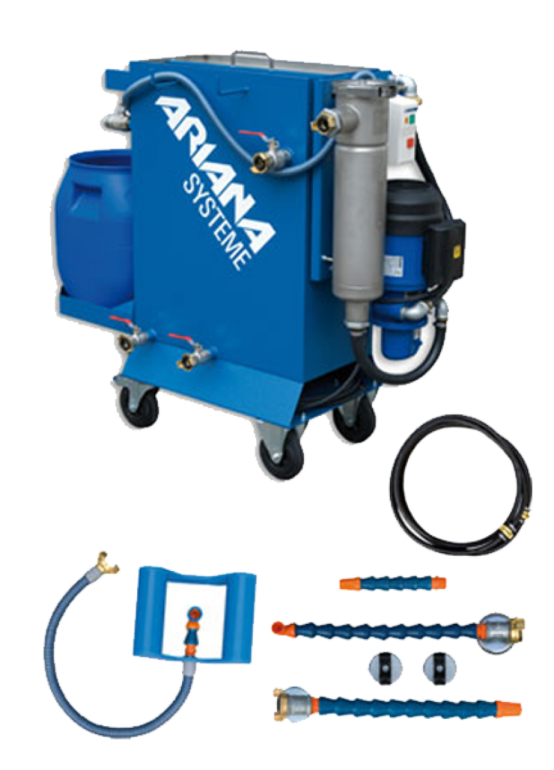 German manufactured ARIANA products offer an extensive range of accessories for the metalworking industry. With our internationally proven coolant maintenance stations, you save up to 50% on disposal costs for waste oil emulsions.
